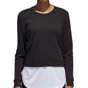 Adidas black sweatshirt size medium